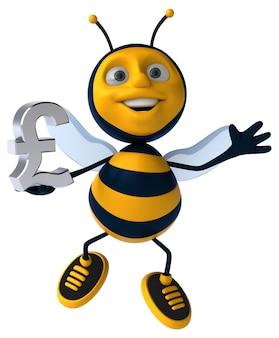 Fun bee - 3d illustratie