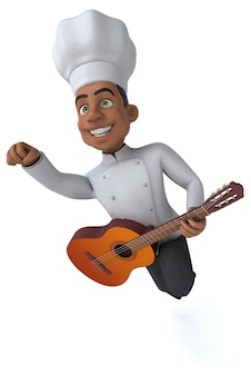 Fun chef - 3d illustratie