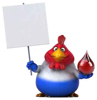 Fun chicken - 3d illustratie Premium Foto