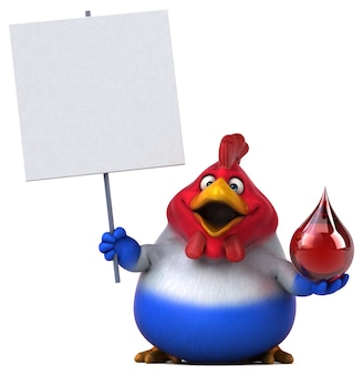 Fun chicken - 3d illustratie