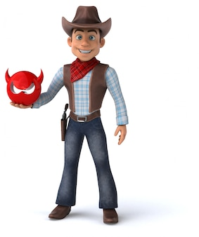 Fun cowboy - 3d illustratie