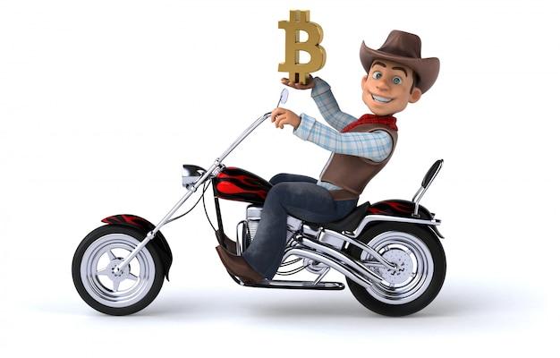Fun cowboy - 3d illustratie
