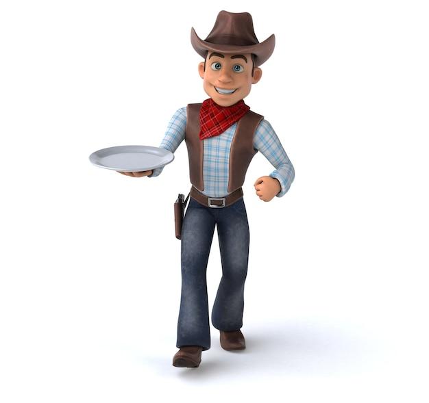 Fun cowboy 3d illustratie