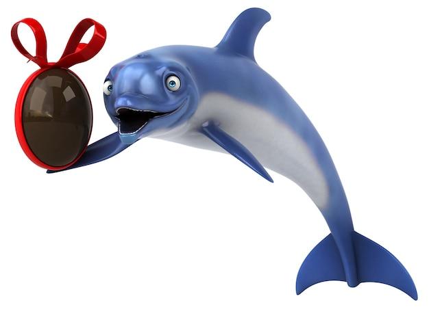 Fun dolphin - 3d illustratie