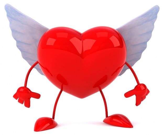 Fun heart - 3d karakter