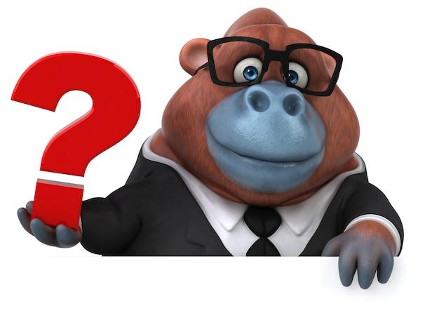 Fun orang outan - 3d illustratie