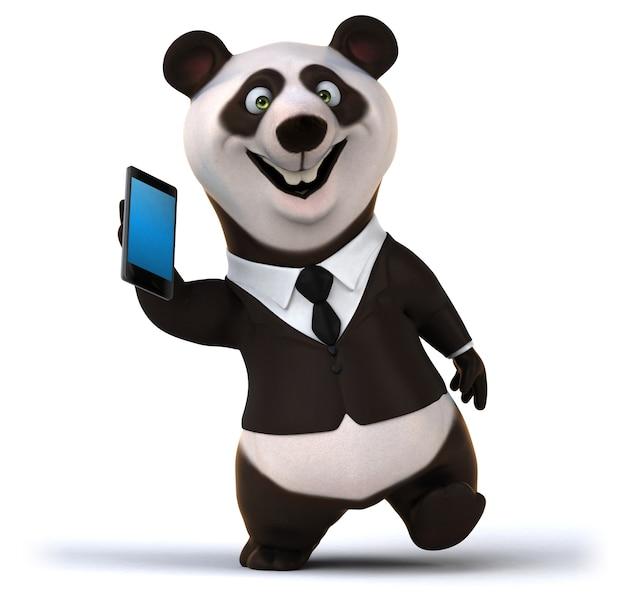 Fun panda - 3d illustratie
