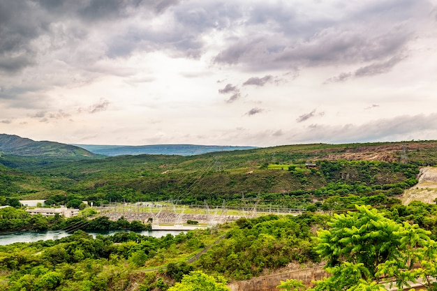 Furnas waterkrachtcentrale in rio grande, staat minas gerais, brazilië, aka de minaszee