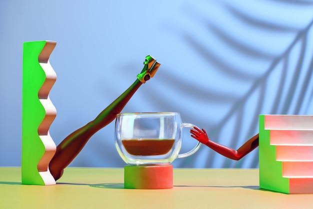 Futuristisch concept over het thema koffie.