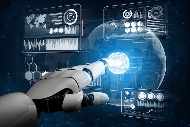 Futuristisch concept van robot kunstmatige intelligentie.