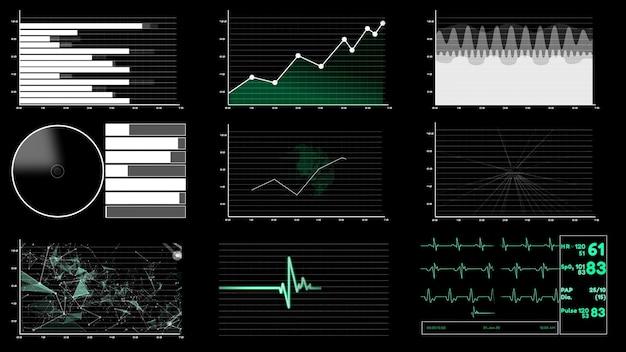 Futuristisch gebruikersinterfacedashboard voor gegevensanalyse