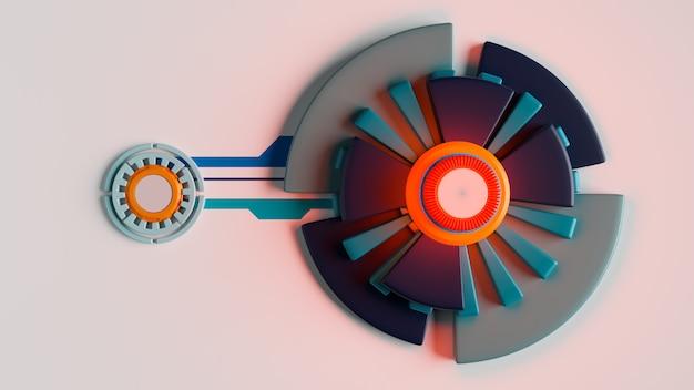 Futuristisch ontwerp, moderne technologie, 3d-rendering