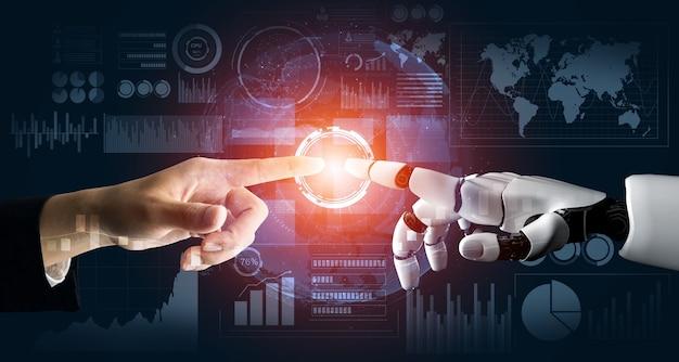 Futuristisch robot kunstmatige intelligentie concept.