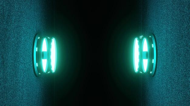 Futuristisch sci-fi circle-voetstuk voor weergave, platform voor ontwerp voor product