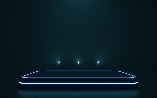 Futuristisch voetstuk voor weergave leeg podium voor product. 3d-rendering