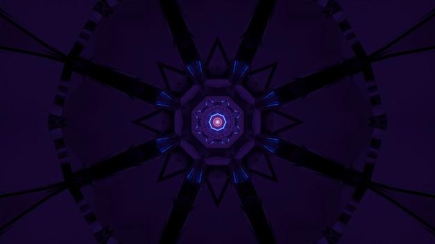 Futuristische achtergrond met abstracte paarse en blauwe laserlichten