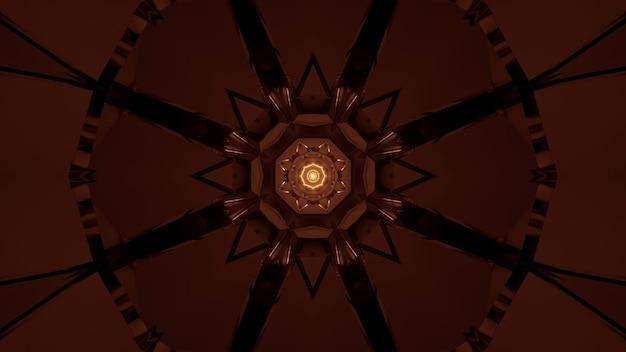 Futuristische achtergrond met gloeiend abstract neonlicht