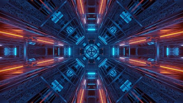Futuristische achtergrond met gloeiende abstracte neonlichtpatronen - ideaal voor een kosmische achtergrond