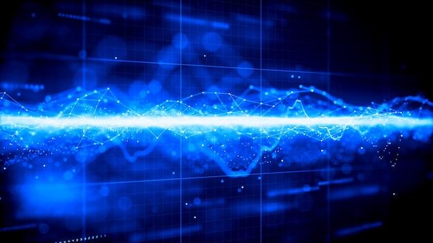 Futuristische digitale technologie netwerk grafische achtergrond