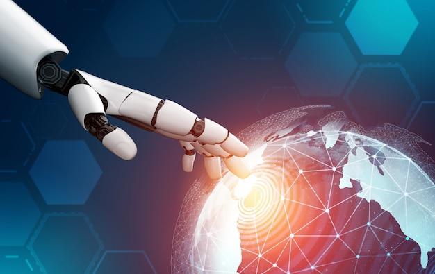 Futuristische robot kunstmatige intelligentie concept.