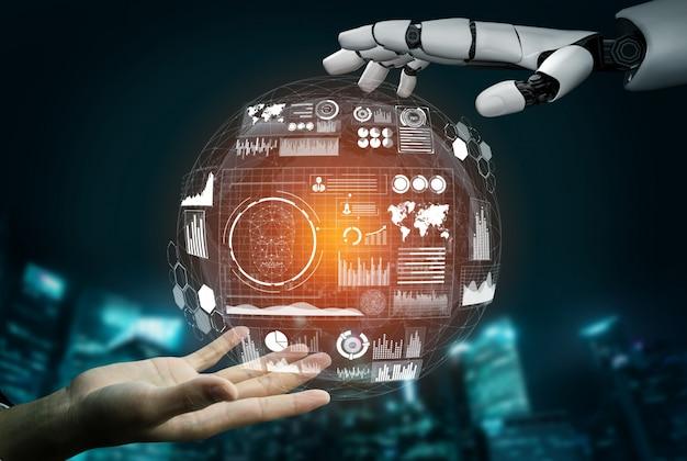 Futuristische robot kunstmatige intelligentie concept