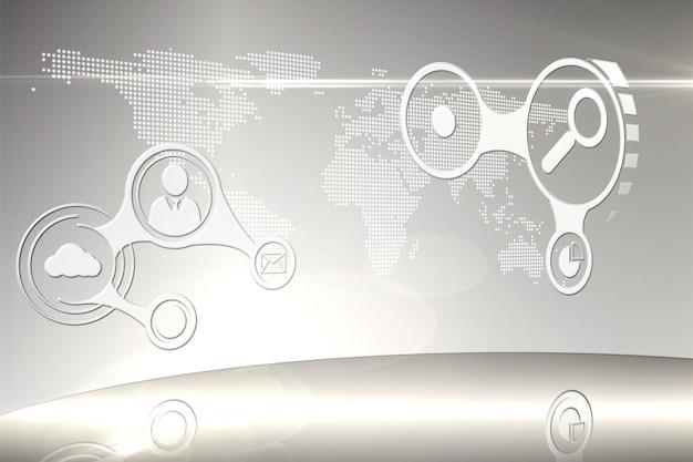 Futuristische technologie-interface