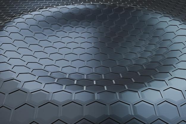 Futuristische zeshoek golfpatroon