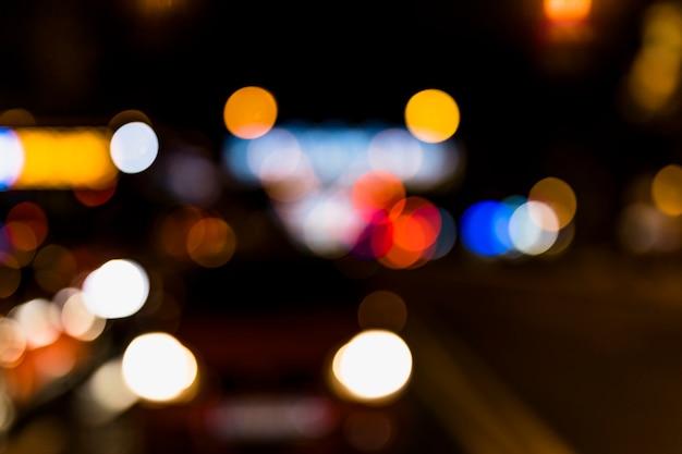 Fuzzy kleurrijke bokeh achtergrond met wazig onscherpe lichten