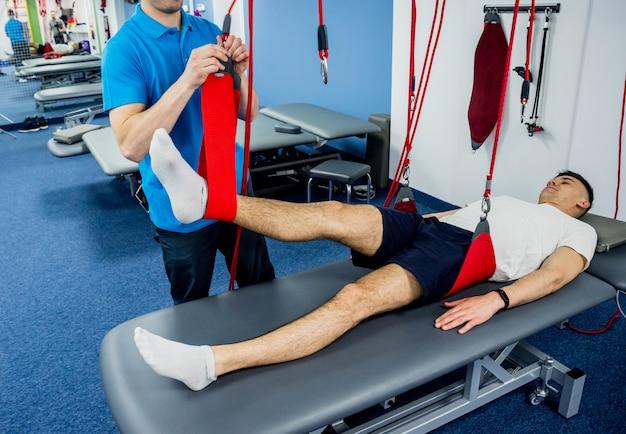 Fysiotherapie. oefentraining therapie.
