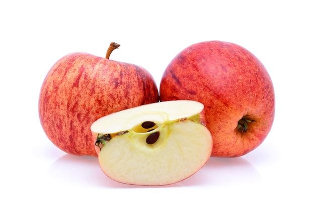 Gala-appels isoleren geïsoleerd op wit
