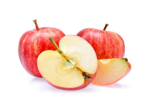 Gala-appels isoleren op witte achtergrond