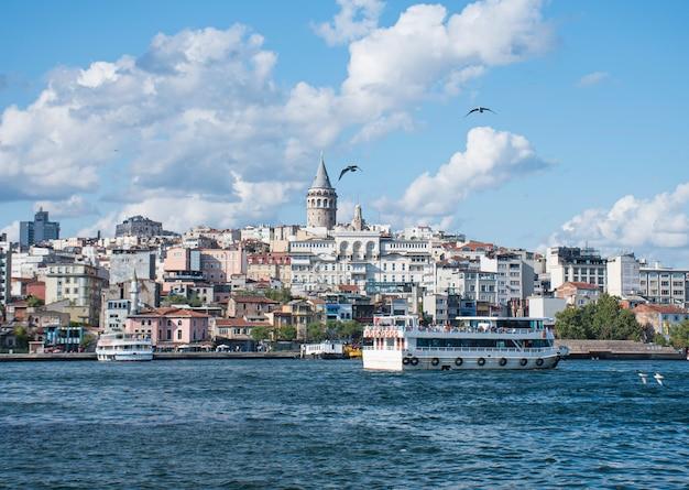 Galatatoren in istambul-landschap