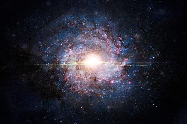 Galaxy in de ruimte. elementen van deze afbeelding geleverd door nasa