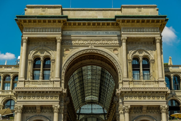 Galleria vittorio emanuele in milaan