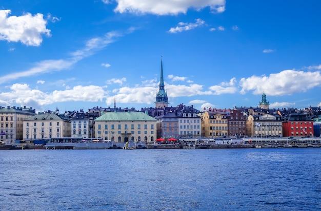Gamla stan-landschap in stockholm, zweden