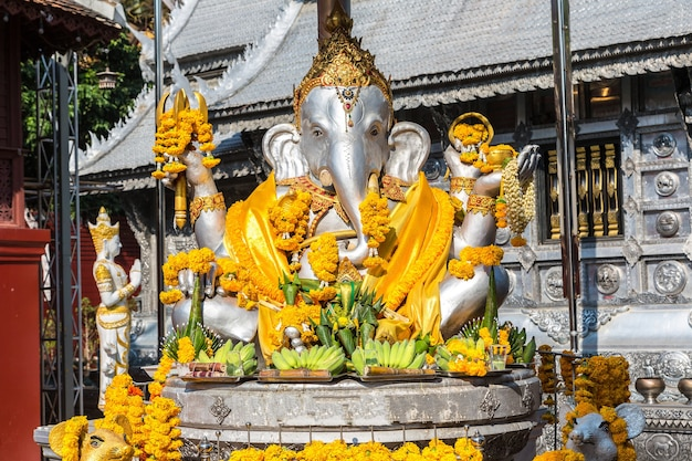 Ganesh in wat sri suphan in chiang mai, thailand