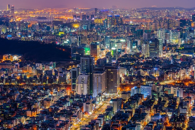 Gangnam city in seoul city, zuid-korea.