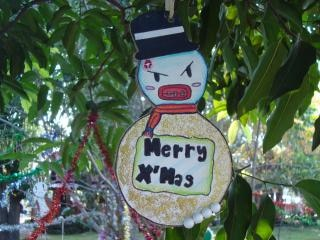 Gangster kerst decoratie