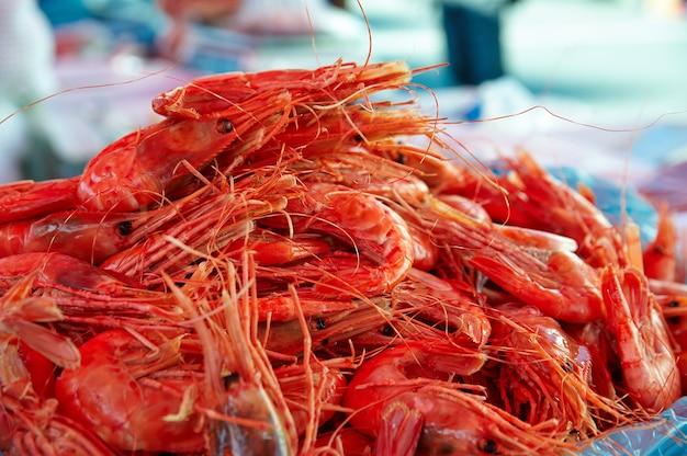 Garnalen op de vismarkt