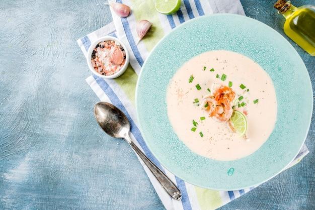 Garnalen romige soep