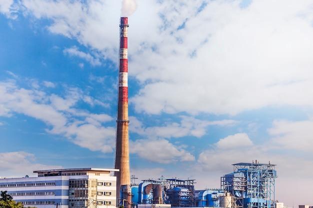 Gas fabriek voor de verwerking