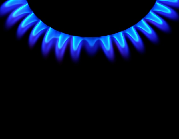 Gas op donkere achtergrond