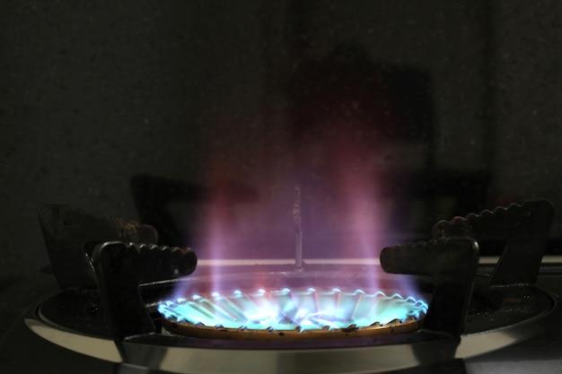 Gasbrander van een kachel
