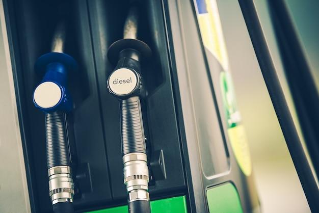 Gasstation brandstof dispenser
