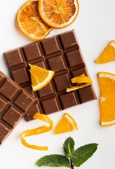 Gastronomische chocoladereep met sinaasappel