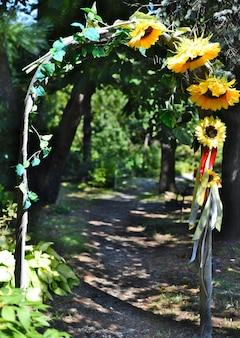 Gatearch die leidt tot de creativiteit van de tuin