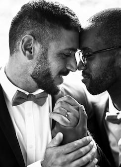 Gay paar samen liefde