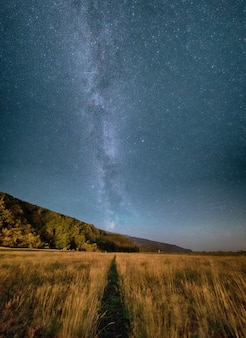 Gazongebied onder grijze hemel tijdens nacht