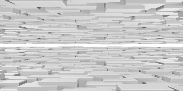 Geanimeerde witte vierkante kubussen abstracte golfachtergrond geometrische gradiënt