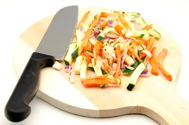 Geassorteerde gehakte groenten